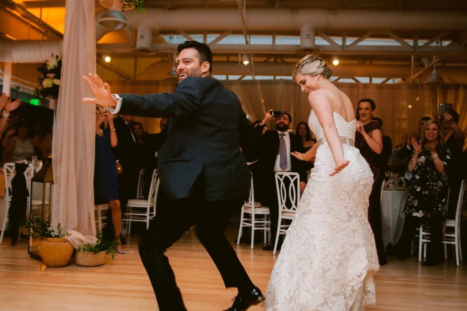 newlyweds dance pants fit