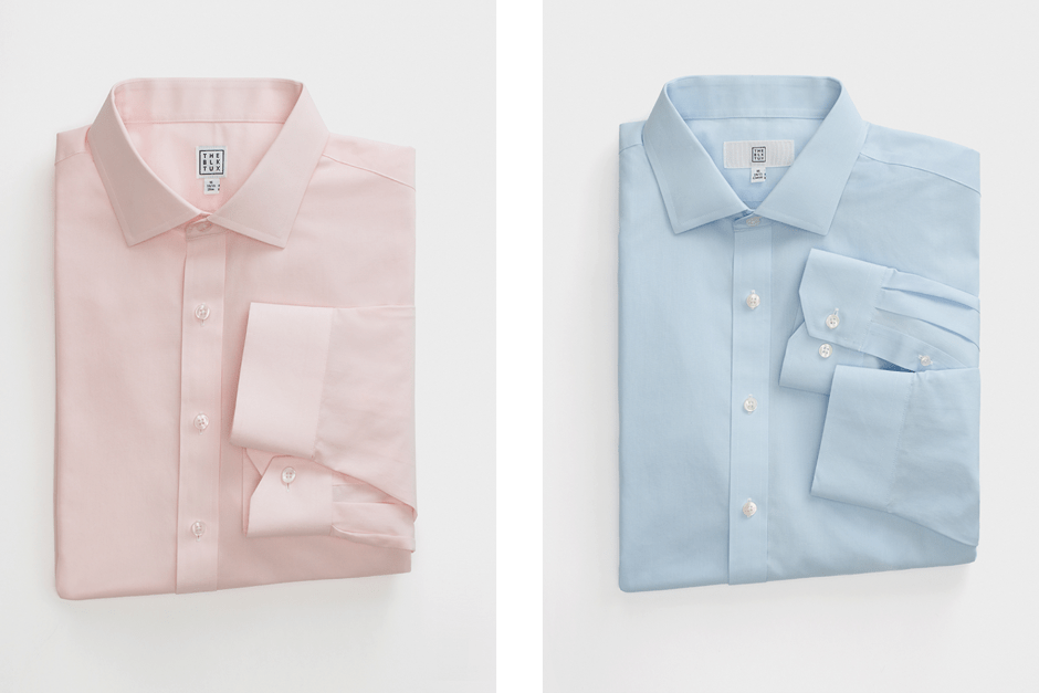 Pink and blue dress shirts for cocktail attire for men