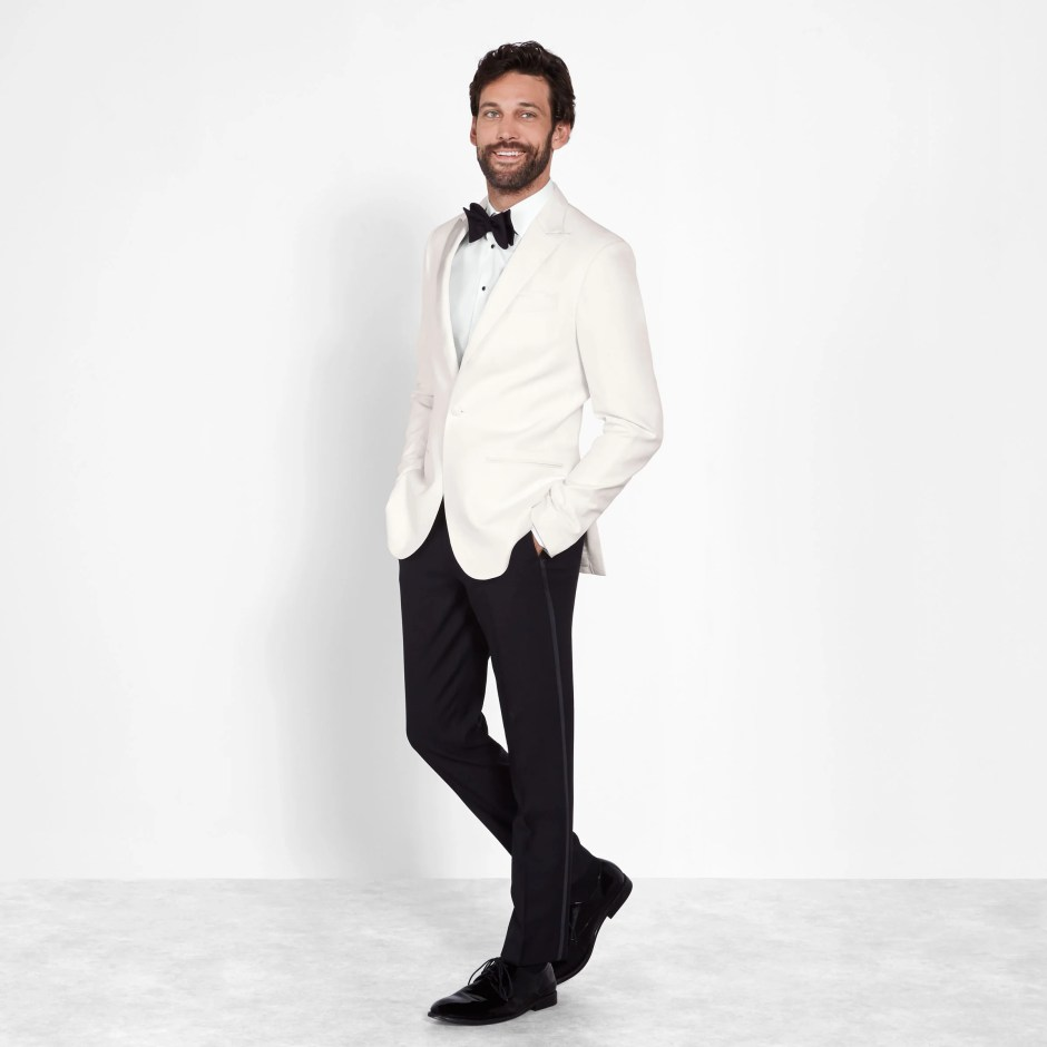 White Jacket Tux Men's Wedding Attire