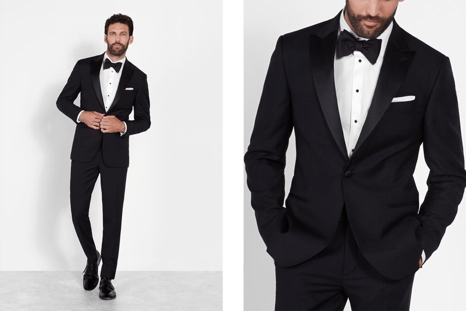 black tie optional formal peak lapel tuxedo look