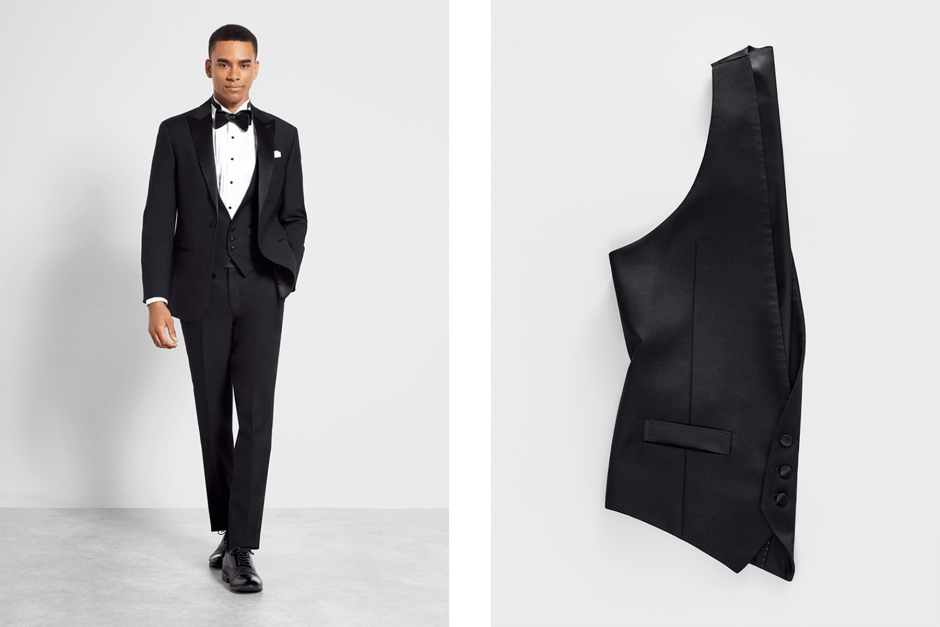 tuxedo vest for men's black tie attire