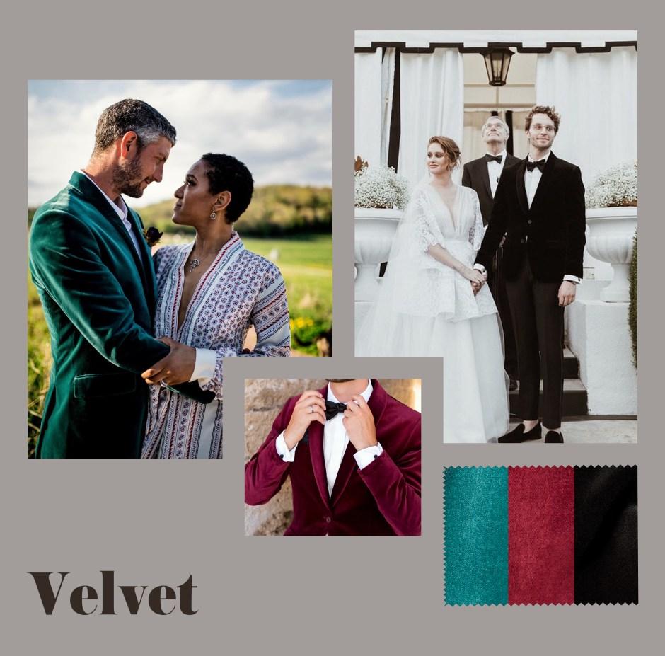 velvet suits for fall wedding attire