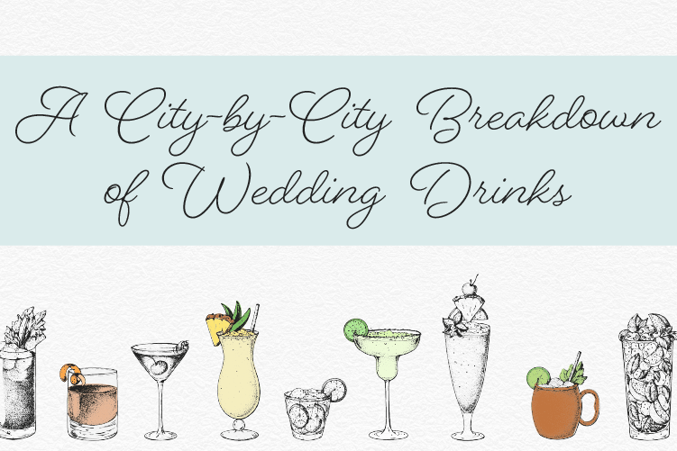 The Most Common Drinks Served at Weddings header image