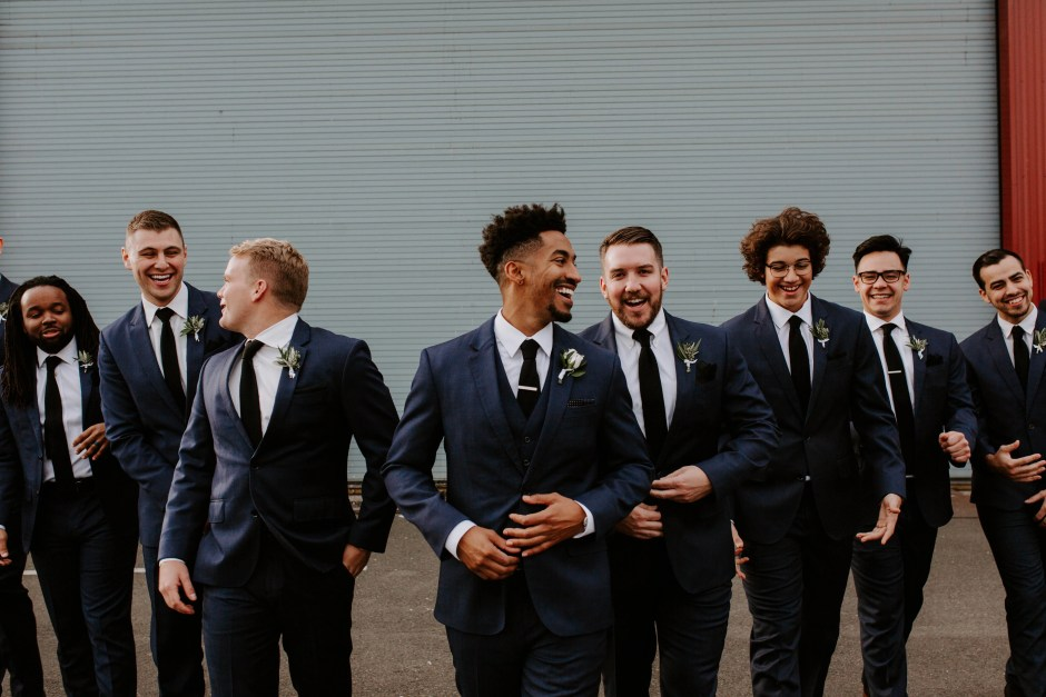 blue groom outfits
