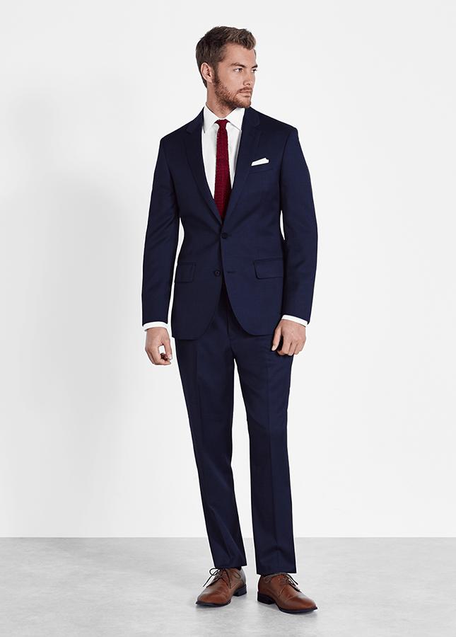 blue men's prom suit