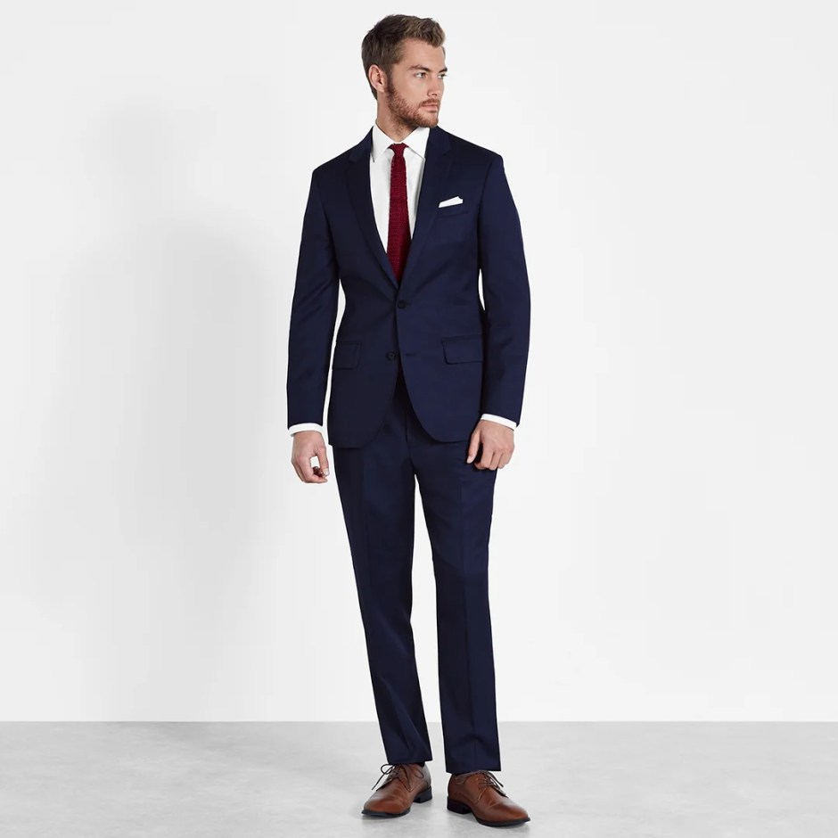blue suit semi-formal attire for grooms