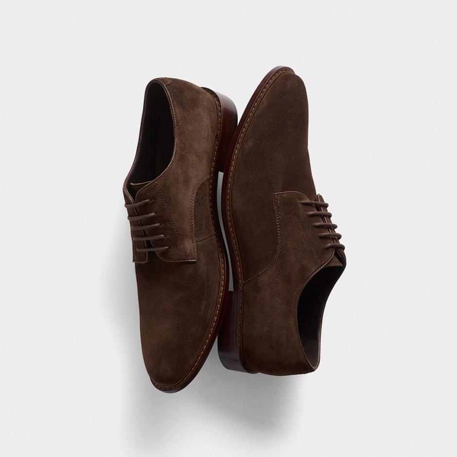 dark brown suede shoes for semi-formal attire weddings