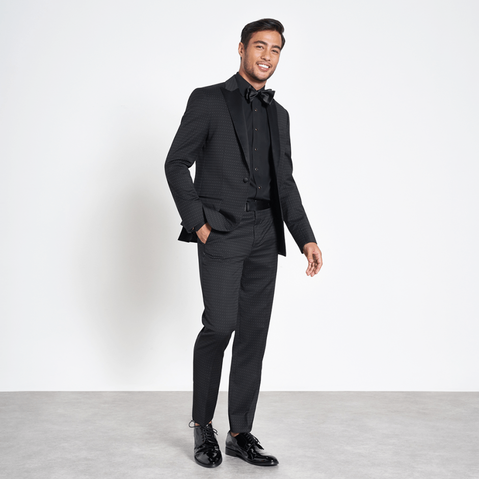 black tuxedo for formal attire grooms