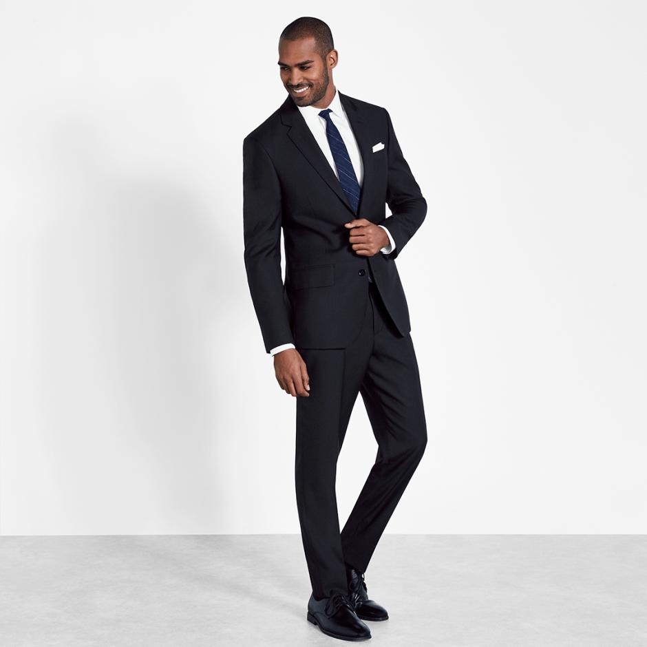 black suit casual wedding attire for evening weddings