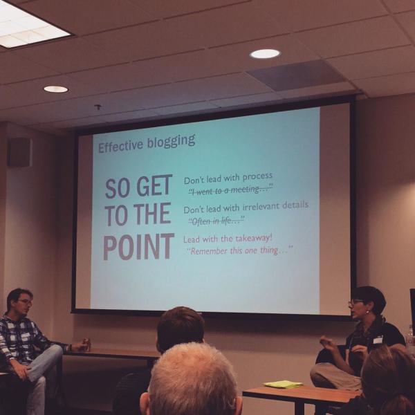 GGW Best Blogging Practices Session via Noah Levenson