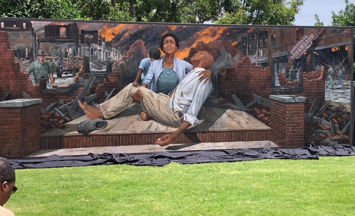 tulsa race massacre mural