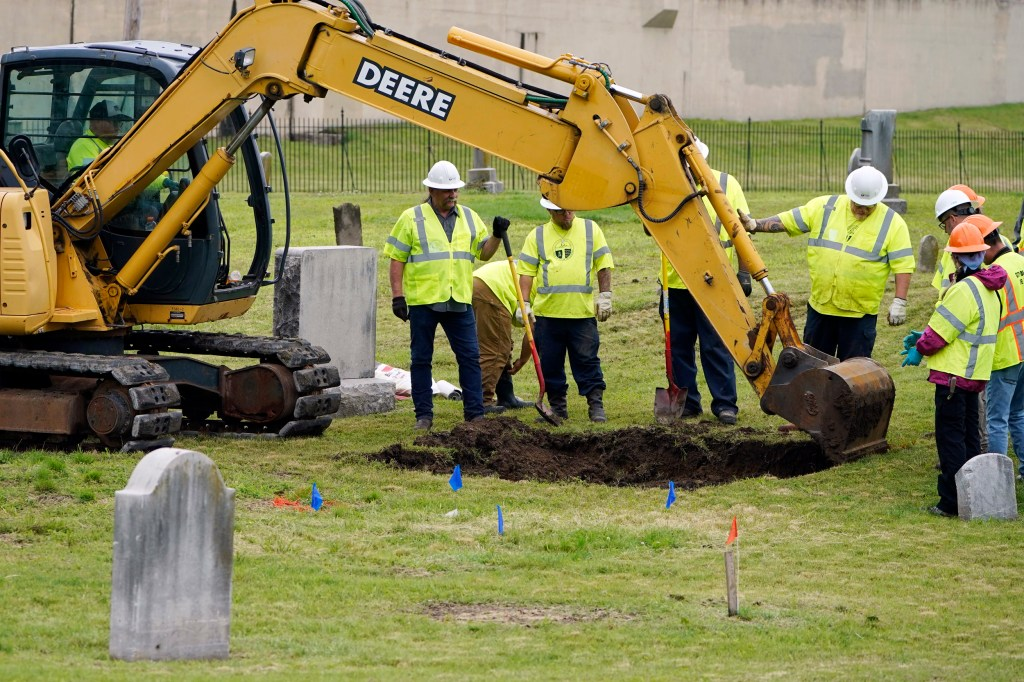tulsa race massacre coffins mass grave