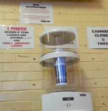 Empty water cooler.