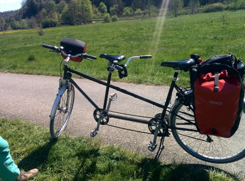 "Our baby Tandem, proudly named ""Picco Muçarela"" (no reason why, it just sounds so right...)"