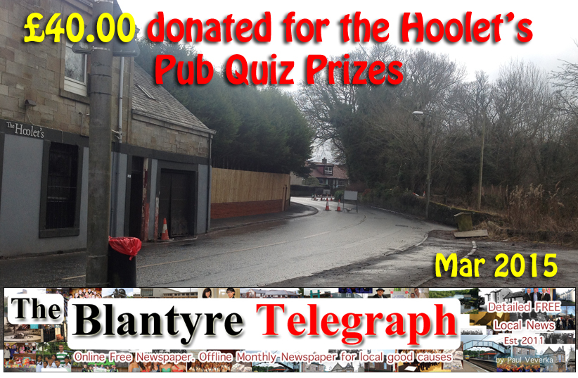 hoolets pub quiz prizes Blantyre Telegraph News for