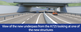 New Underpass under M74 facing Bellshill