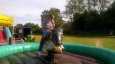High Blantyre Gala Day 5th Sept Rodeo Bull fun (PV)