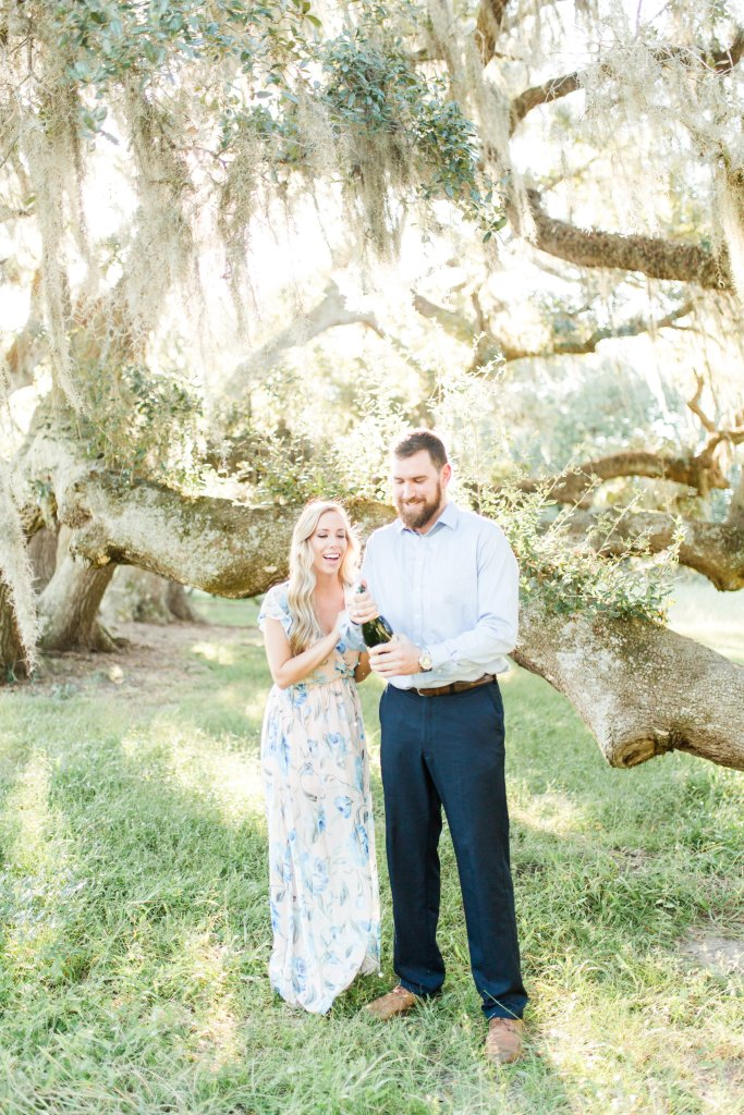 engagement session dress, floral dress, flowy maxi