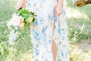 engagement session dress, floral dress, flowy maxi, florals, flower crown