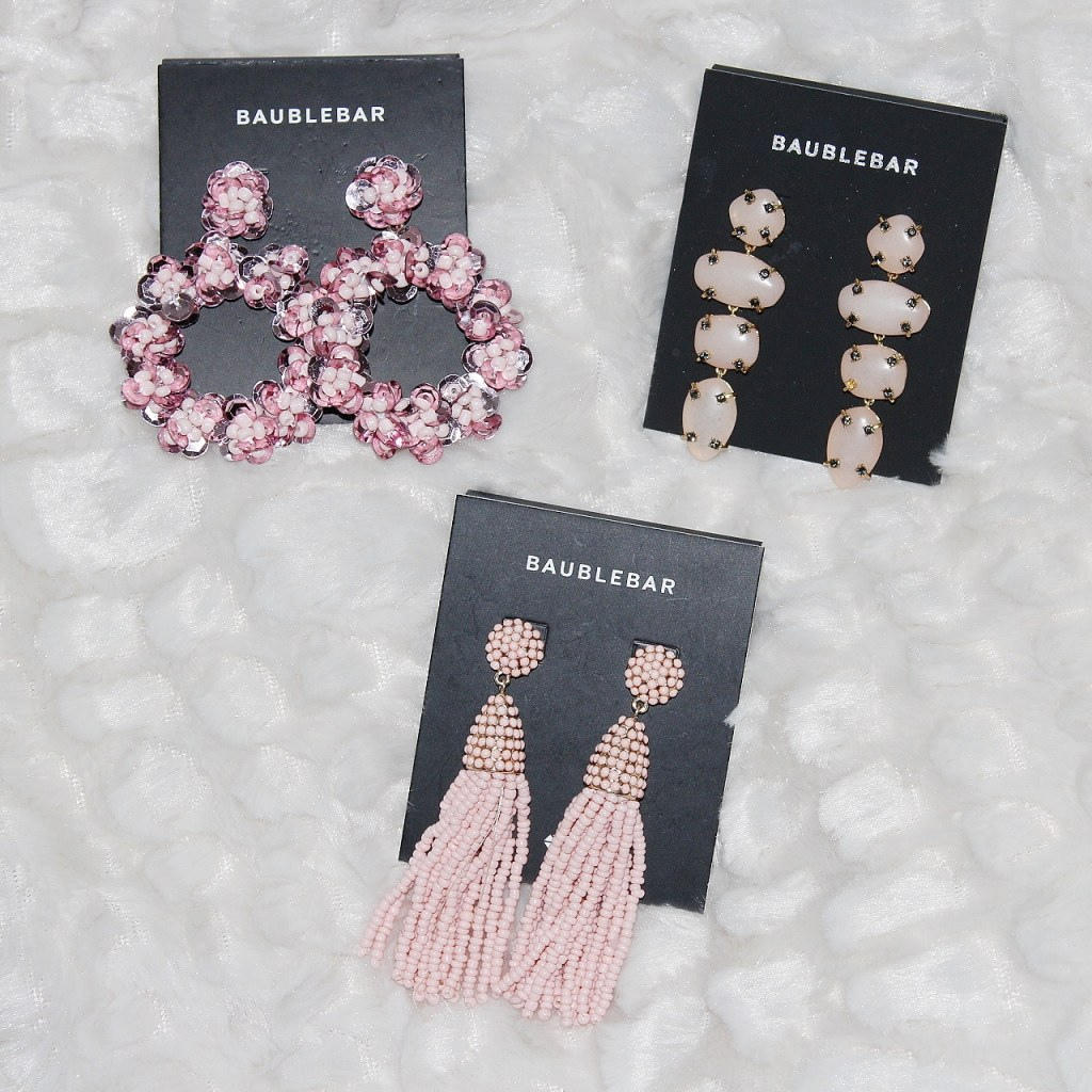 bauble bar, tassel, sequin, stone, earrings, accessories