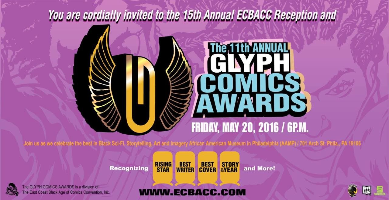 the glyph awards, ecbacc, theblerdgurl,