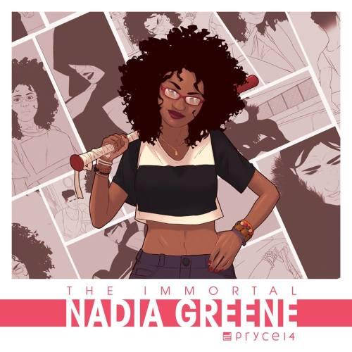 immortal nadia greene, theblerdgurl, webcomics