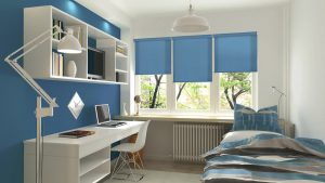 Pacific Blue Roller Shade