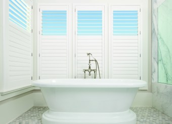Bathroom White Shutters HD