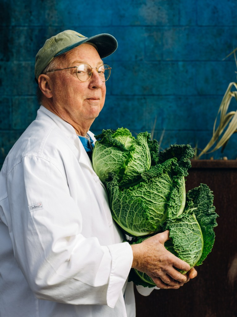 Bill Smith with Cabbages
