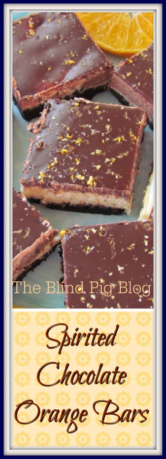 spirited chocolate orange bars