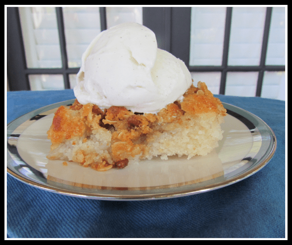 Banana Bourbon Cobbler