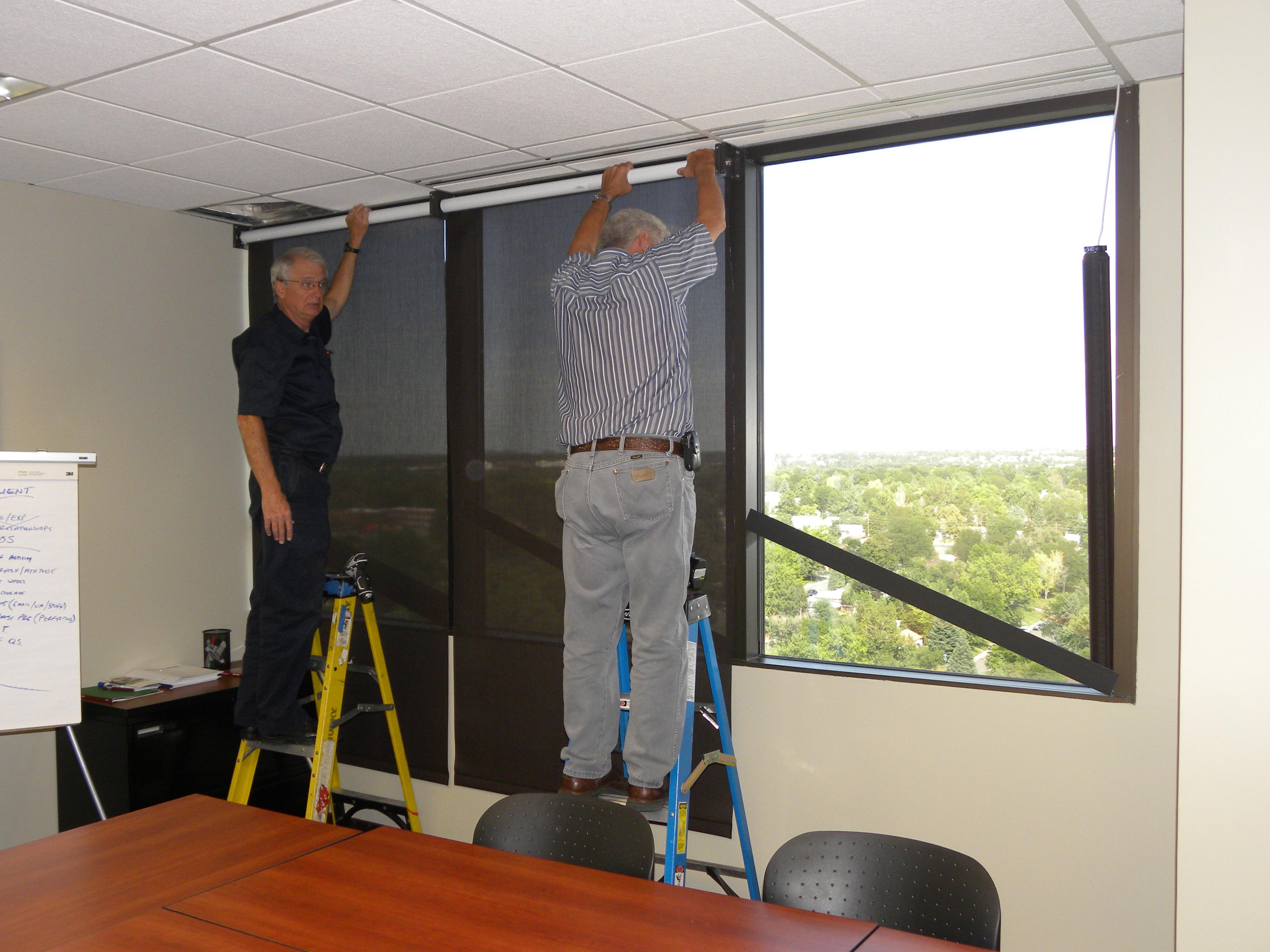 floor roller london sunscreen blinds to windows sliding pin installing window ceiling doors