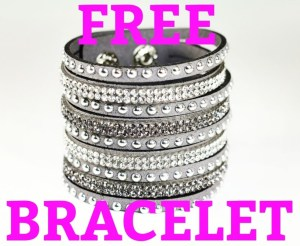 Free bling cuff bracelet with a $75 purchase