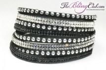 theblingclub-com-black-vegan-leather-swarovski-wrap-crystal-bracelet-silver-studs