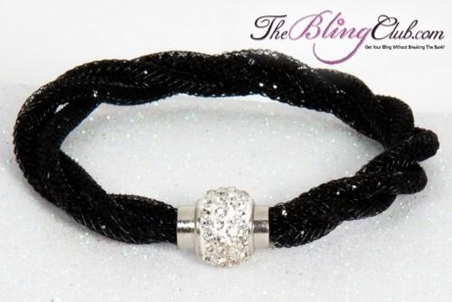 theblingclub-com-black-mesh-black-swarovski-crystal-magnetic-bracelet