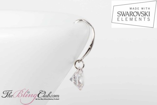 theblingclub.com swarovski single drop earrings side view
