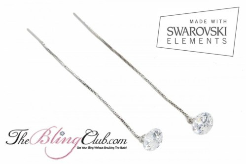 theblingclub.com swarovski crystal threader drop earrings