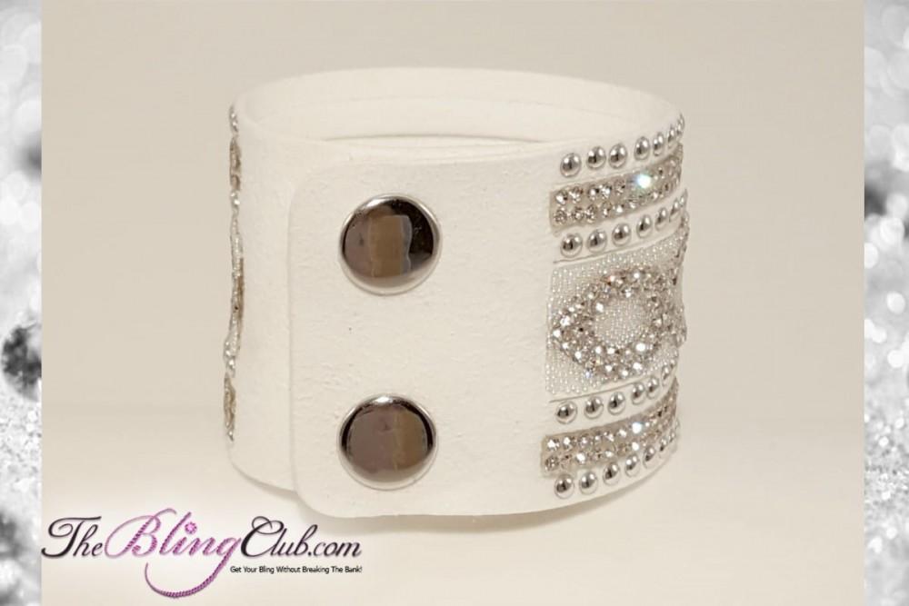 theblingclub-com-white-infinity-vegan-leather-crystal-swarovski-bling-cuff-bracelet-2