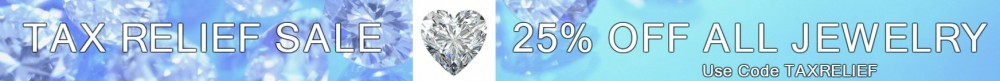 the bling club Tax relief sale banner 25 percent off all jewelry