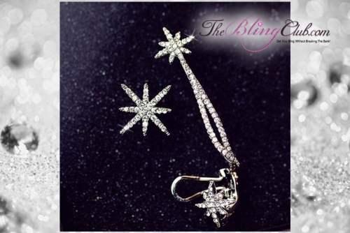 theblingclub.com crystal bling starbust ear cuff 2 piece