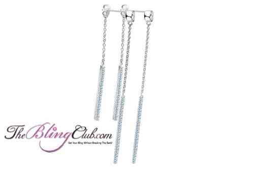 theblingclub.com pave crystal platinum plated front and back dangle chandelier earrings