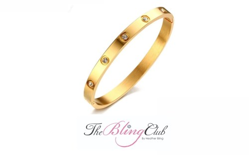the bling club cartier love yellow luxury gold bangle crystals