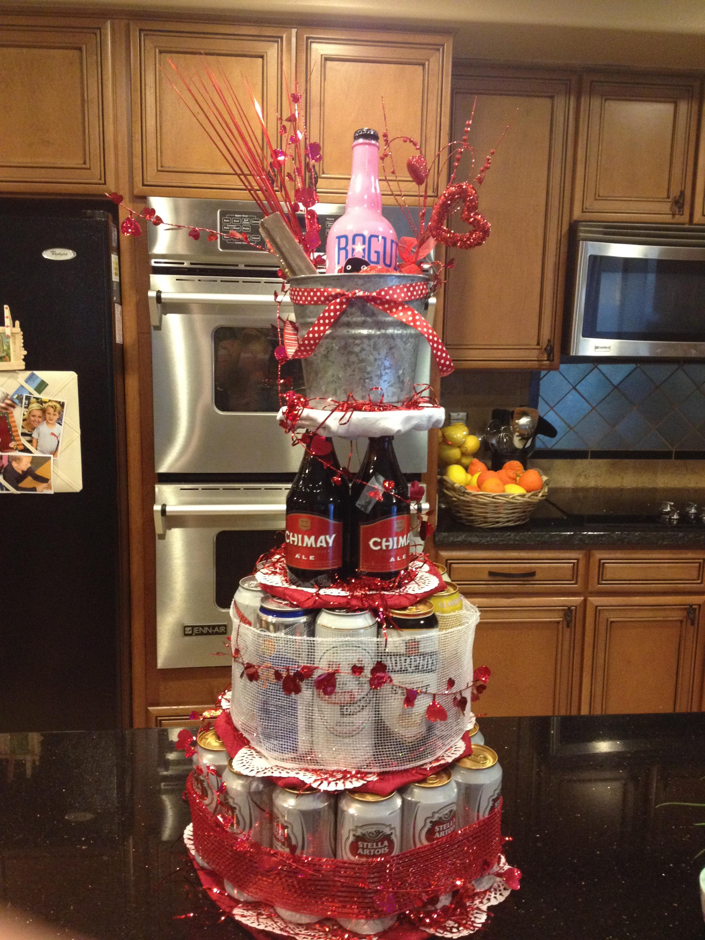 Valentines Day Beer Tower
