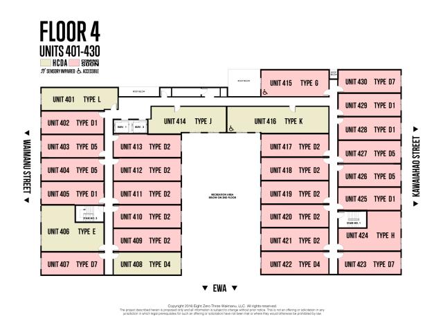 803 Waimanu, Floor 4