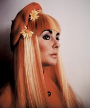 Elizabeth Taylor's test shot for Secret Ceremony, 1968. The wig was not used in the film.