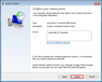 Solution No 5 -  Perform a System Restore (4)