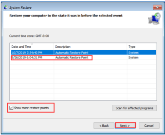 Solution No 5 -  Perform a System Restore (3)
