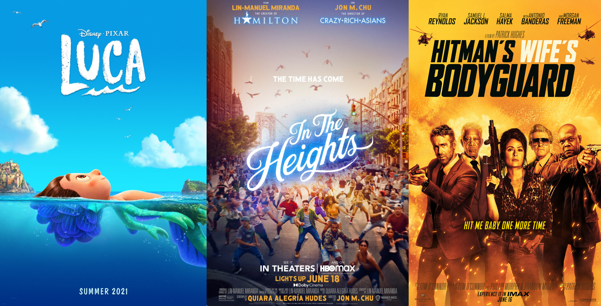 June 2021 Catch-Up (Luca, In the Heights & The Hitman's Wife's Bodyguard)