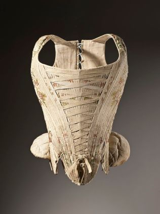 800px-Woman's_corset_figured_silk_1730-1740
