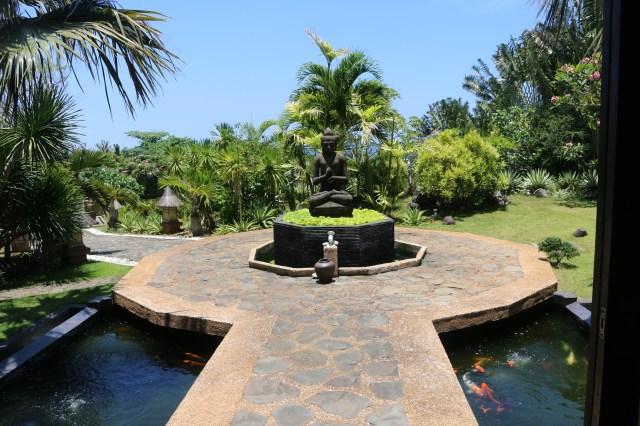 buddha and Koi Pond at Tirta Spa